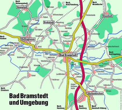 Abbildung - Umgebungsplan Bad Bramstedt